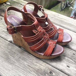 Brown Mossimo Wedge Sandals